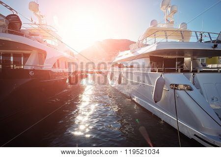 Pleasure Boats In Monte Carlo