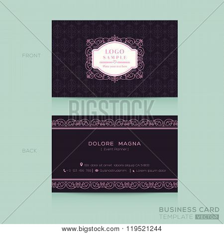 Classic Vintage Business Card Namecard Template