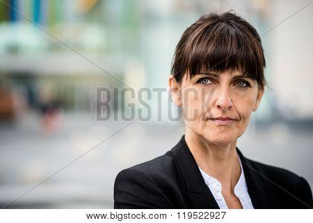 Senior business street woman portrait