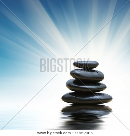 Stack Of Zen Stones