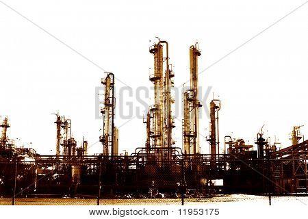 Factory in sepia tone