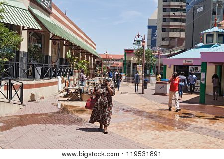 pedestrian zone Windhoek, Namibia