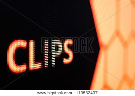 Clips Sign At The Led Smd Screen