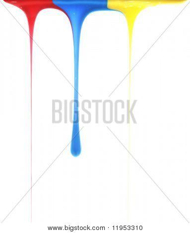 Derramando cores primárias