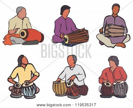 Indian Drums Set