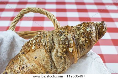 Fresh-baked Seedy Croissant
