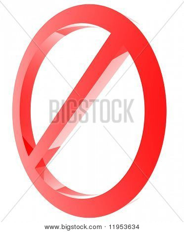 Red forbidden sign