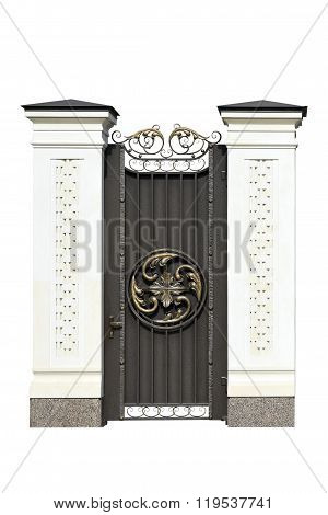 Decorative Wrought  Iron Door.