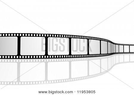 Tira de filme em branco