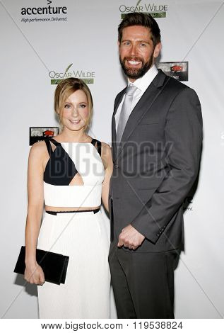Joanne Froggatt and James Cannon at the 2016 Oscar Wilde Awards held at the Bad Robot in Santa Monica, USA on February 25, 2016.