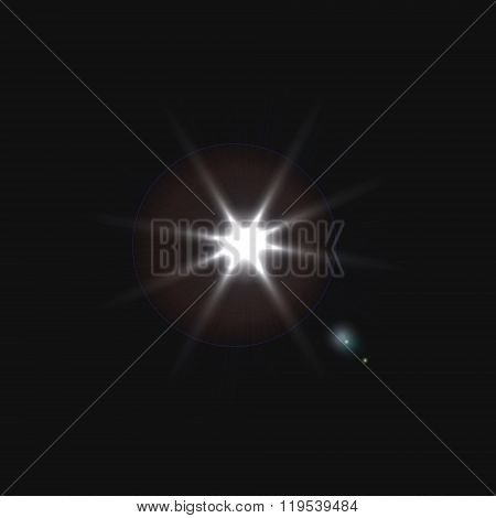 Bright Flash Of Light. Star In Space