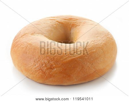 Fresh Bagel On White Background