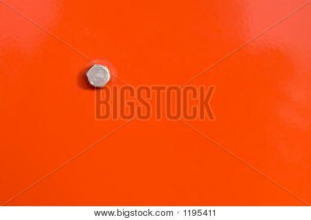 Orange Panel And Bolt Head