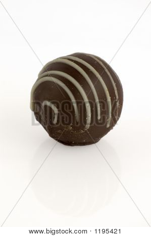 Cappuccino Truffle Isolated
