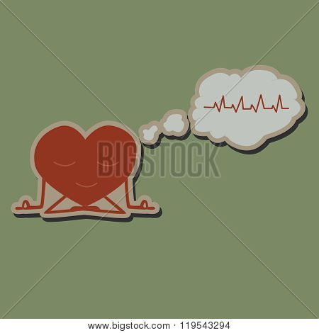 Meditate heart sticker