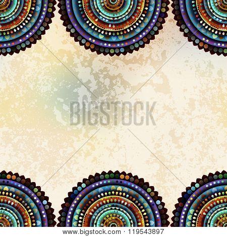Abstract circles border