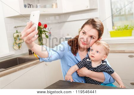 Selfie with my little son