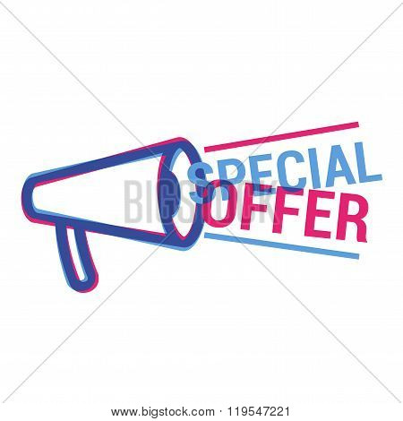 Vector Special Offer eye catching label