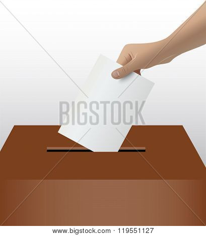Person Hand Voting