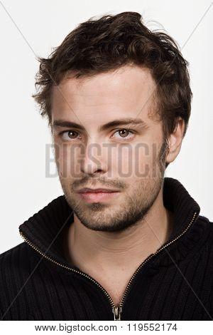 Portrait of young adult Caucasian man