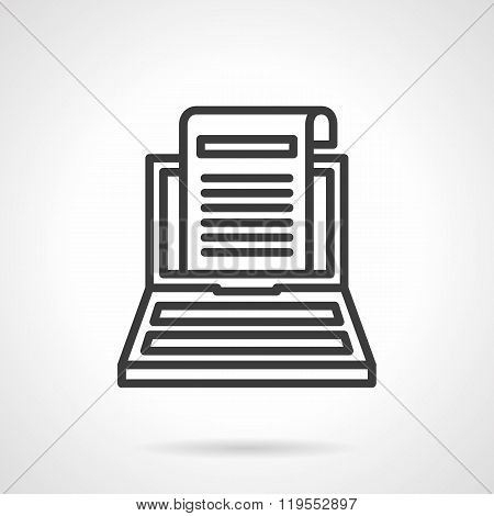 Copywriting black line design vector icon