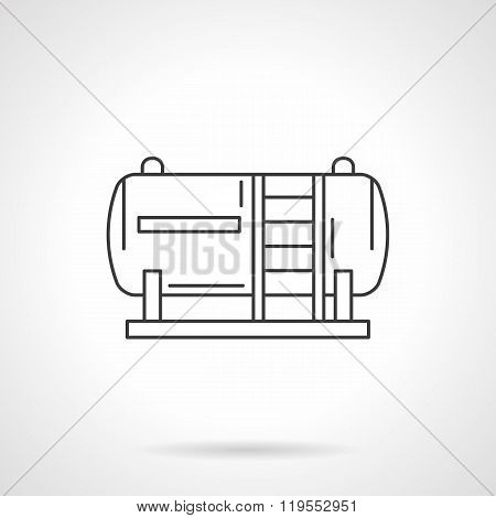 Fuel tank flat line design vector icon