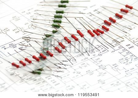 Pack Of Resistors On Circuit Diagram