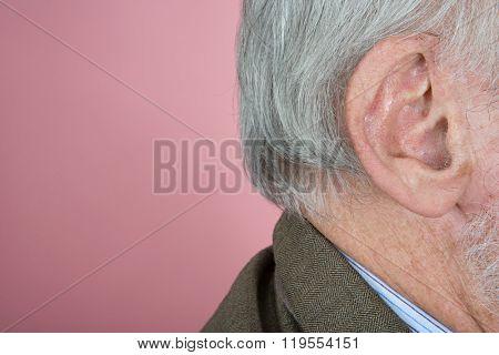 Ear of a senior man
