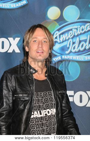 LOS ANGELES - FEB 25:  Keith Urban at the American Idol Farewell Season Finalist Party at the London Hotel on February 25, 2016 in West Hollywood, CA