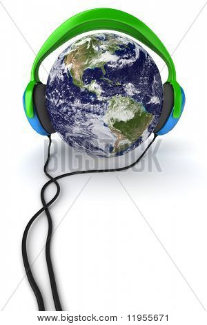 Earth & headphones