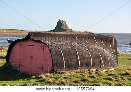 Lindisfarne (Holy Island) - UK - Traditional Boat Shed