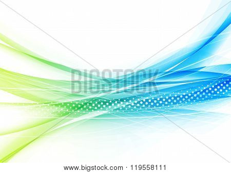 Modern Transparent Futurisitc Swoosh Blue Background