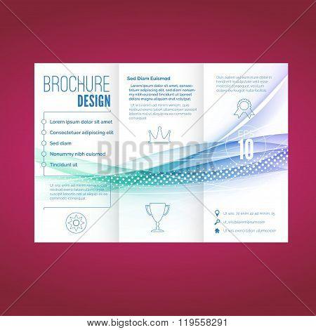 Light Swoosh Wave Line Abstract Brochure Document