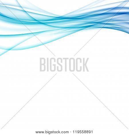 Futuristic Speed Blue Swoosh Lines Template