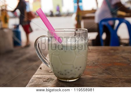 Soy Milk With Straw