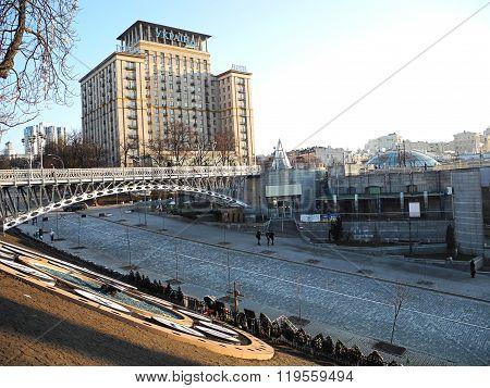 City Kiev, Institutskaya Street, The Building Ukraine.