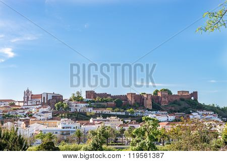 Castle In Silves, Old Moorish Capital Of Portugal.