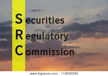 Acronym term SRC as Securities Regulatory Commission.