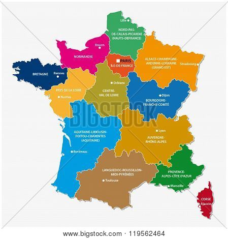 New Regions Of France, Map