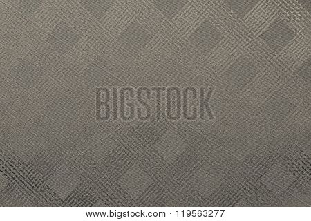 Grained Texture Checkered Fabric Of Beige Color