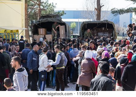 Refugees  Living In Tents In The Center Relocation Diavata