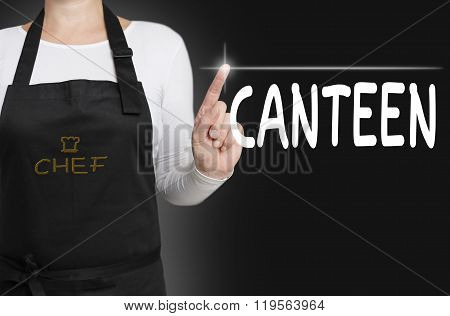 Canteen Touchscreen Is Operated By Chef