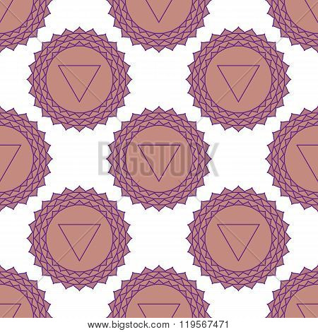 Sahasrara - The Crown Chakra. The Symbol Of The Seventh Chakra. Seamless Pattern.