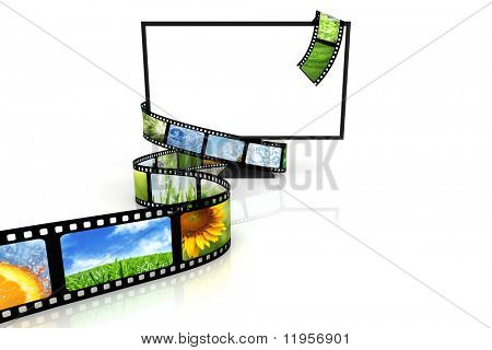 Film around blank TV