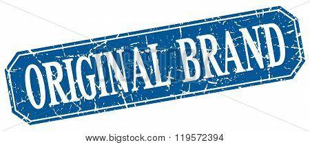 original brand blue square vintage grunge isolated sign