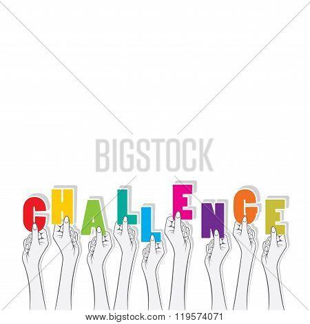 challenge word banner design