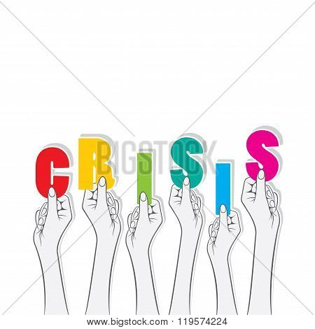 crisis text banner design