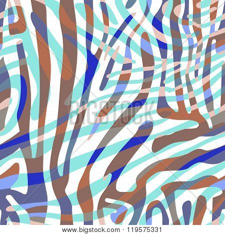 Background with colorful Zebra skin pattern