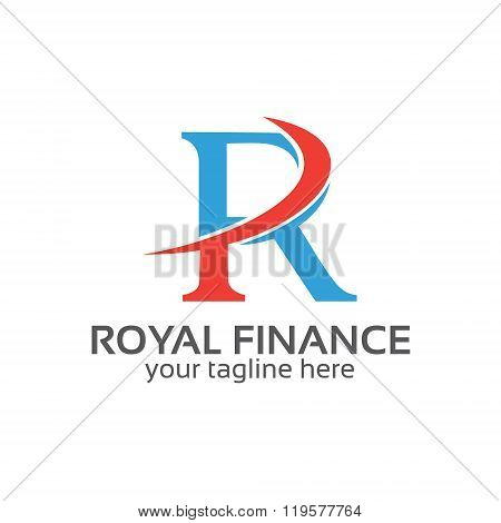 Letter R Logo Design Vector. Letter R Symbol Vector In Two Colors . Simple Modern Clean Letter R Log