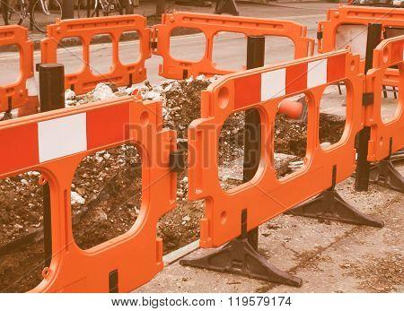 Street Barrier Vintage